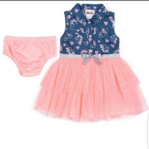 Little Lass Rainbow Tulle dress NWT 18M